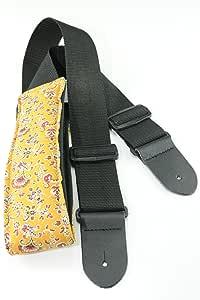 Perris Leathers KDL50-70 2 英寸尼龙吉他绑带,带皮革端子和设计师织物垫