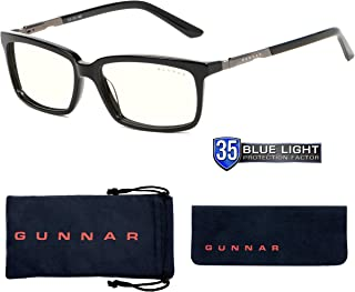 GUNNAR optiks haus 电脑眼镜带 liquet 镜片–BLOCK 蓝色灯防眩光 minimize 数码 EYE strain 缟玛瑙 (hau-00109)