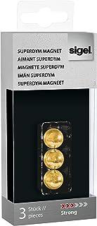 Sigel SuperDym-磁铁 3 Stück Kugel gold