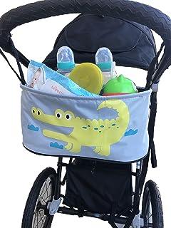 婴儿手推车整理袋美丽动物设计带钩环紧固件手推车通用收纳包 鳄鱼