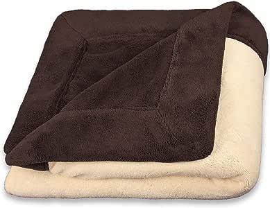 celin ATEXCelinatex 毛毯天 - / 居室天花板卧室盖毯,多伦多Toronto,微纤维 coralf 粒绒超细纤维珊瑚绒,蓬松 dunkel braun / beige XXL 220 x 240 cm