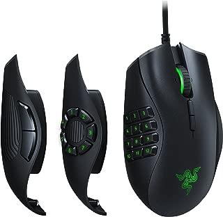 Razer rz01–02410100-r3u1Naga Trinity–chroma 游戏鼠标可互换侧盘–UP TO 19可编程按钮