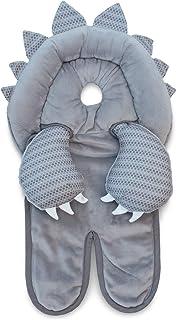 Boppy Preferred 头部和颈部支撑,灰色恐龙,Minky 面料,婴儿头部支撑