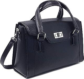 紫色传统:DSLR 女士相机包 ~ 女士手提包带可拆卸相机包