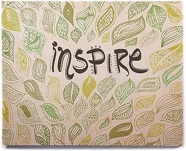 "KESS InHouse Pom 图形设计""Inspire Nature""绿色黄色桦木墙壁艺术 8"" x 10"" PG1089AHW01"