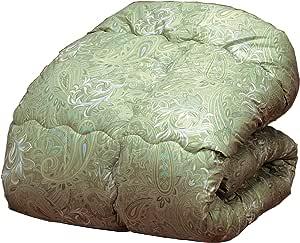 羊毛被子加工的被子 双人 绿色 (約) サイズ/1枚 190×210cm a1358120