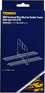 TOMIX N轨距 复线架线柱 管型 24根套装 3050 铁道模型用品