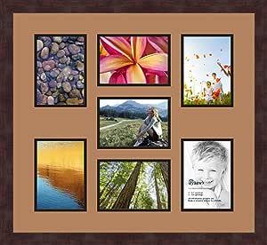 Art to Frames 双多衬垫-417-771/89-FRBW26061 拼贴框架照片垫双衬垫带 7-12.7 x 17.78 cm 开口和咖啡色相框