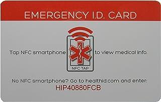Health ID 紧急* ID 卡,带智能手机接入