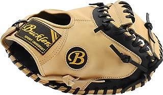 BUCKLER 'Fame Pro' 系列 - 高级德克萨斯阉牛皮成人棒球手套 - 捕手手套 - 33.5 英寸(约 85.1 厘米) - RHT & LHT