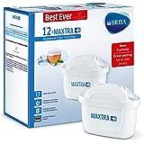 BRITA 碧然德 MAXTRA+ 濾水壺濾芯 與BRITA水壺兼容 有助于減少水垢和氯,白色,12個裝
