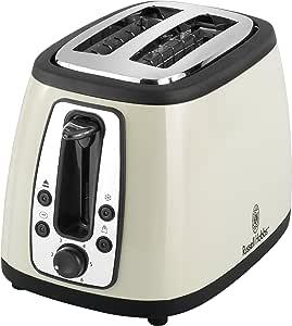 Russell Hobbs 2 Slice Toaster, Cream
