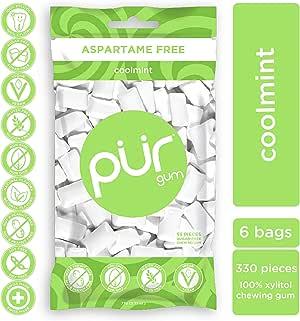 PUR Gum 无异形巧克力薄荷 6 Bag Pack