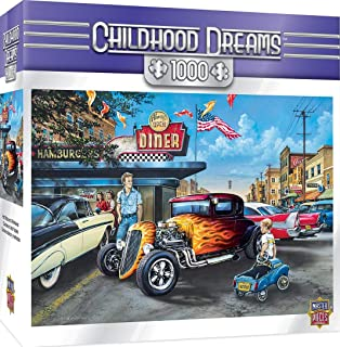 MasterPieces Childhood Dreams Hot Rods and Milkskakes Cars at the Diner 拼图,Dan Hatala 出品 1000 片