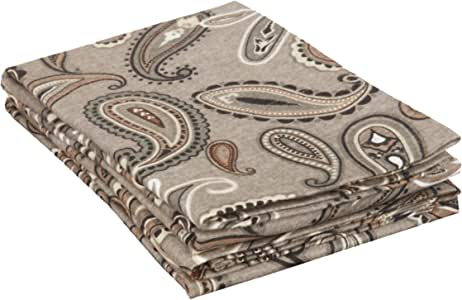 Superior Cotton 法兰绒佩斯利枕套套装 灰色佩斯利图案 标准 FLASDPC PAGR