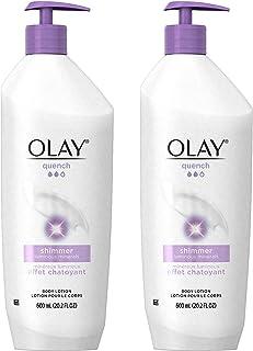 Olay 玉兰油  Quench 微光润肤露, 20.2液体盎司(600ml)(2件装)包装可能会不同