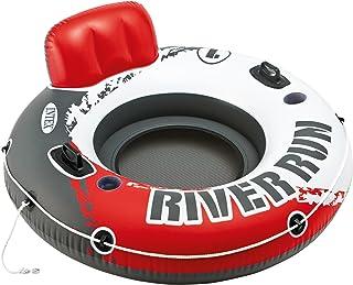 Intex Red River Run 1 Fire Edition 运动休息室 充气水上浮舟 直径 53 英寸