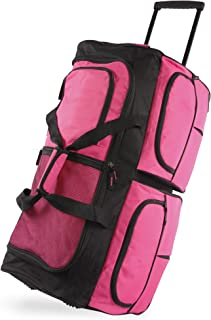 Pacific Coast Signature 30 Inch Large Rolling Luggage Duffel Bag