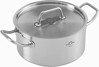"""Kuhn Rikon""""Montreux"""" Cooking Pot, Stainless Steel, Silver, 4 Litre, 22 cm"""
