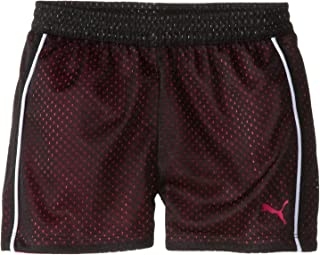 PUMA 女童运动双层网眼短裤