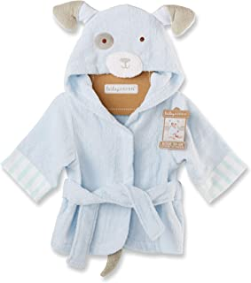 Baby Aspen Bath Time Bow Wow Puppy Hooded Spa Robe, Blue, 0-9 Months
