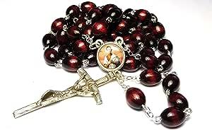 Relic Rosary *三级祝福 Angela Salawa Franciscan 三级**者多发** 樱桃色
