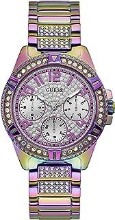 GUESS 女式模拟手表不锈钢表带,紫色,22(型号:GW0044L1)