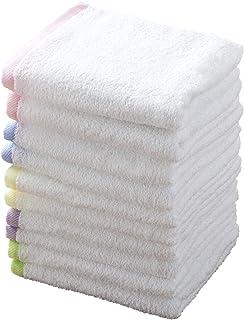 kosugizen 洗脸毛巾 泉州产线条颜色 34×83cm 5色10条套装