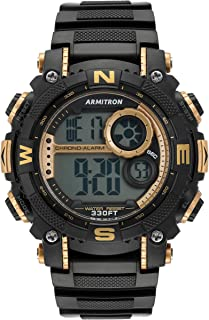 Armitron Sport 男 40/8284GBK40/8284GBK Digital 树脂 黑色 40/8284GBK sport-watches