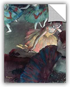 """ArtWall Edgar Degas's Ballerina and Lady with A Fan Art Appeelz Removable Wall Art Graphic, 24 x 32"""""""