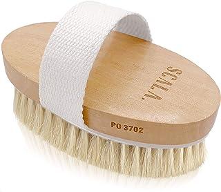 干湿身体刷去角质器 - 柔软的刷毛刷天然去角质死皮,平滑*团,减缓老化,刺激*和血液流动,Scala Beauty,12.7 x 6.99 厘米