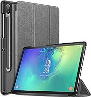 Infiland 三星 Galaxy Tab S6 10.5 手机壳,支持 S 钢笔无线充电,三折式手机壳兼容三星 Galaxy Tab S6 10.5 英寸型号 SM-T860/T865/T867 2019 发布平板电脑