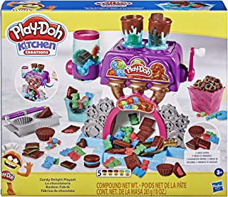 Play-Doh Kitchen Creations Candy Delight 玩具套装 适合 3 岁及以上儿童,5 罐装,*