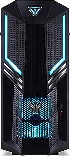 Predator Orion 3000 (PO3-600) 游戏台式电脑(Intel Core i5-9400F,16 GB RAM,256 GB PCIe SSD + 1000 GB 硬盘,NVIDIA GeForce GTX 1660 Ti (6 GB GDDR6),Windows 10 家庭版)黑色/蓝色