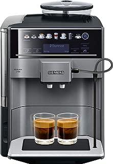 Siemens IQ500 te651209rw 獨立全自動濃縮咖啡機 1.7L 升 2 杯,黑色,鈦 – 咖啡(自由式,濃縮咖啡機,1.7 升,工廠制造,1500 瓦,黑色,鈦)