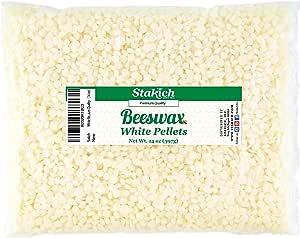 Stakich 纯白蜂蜡球 - * 天然,化妆品级,高品质 - 14 oz