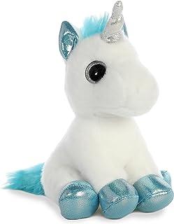Aurora World 60956 Snowbelle 独角兽 Sparkle Tales,白色/蓝色,17.78 厘米
