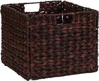 Household Essentials Banana Leaf Square Laundry Basket - Dark Brown 棕色