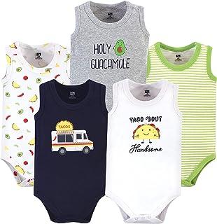 Hudson Baby 中性款婴儿棉质无袖连体衣