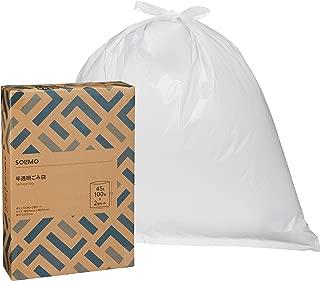 [Amazon品牌]SOLIMO 垃圾袋 半透明 45L 100枚 x2个装(200枚)