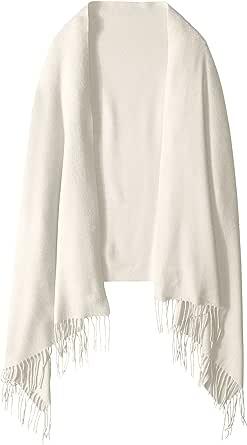 Phenix Cashmere 女式纯色100% 羊绒披肩  米色 One Size