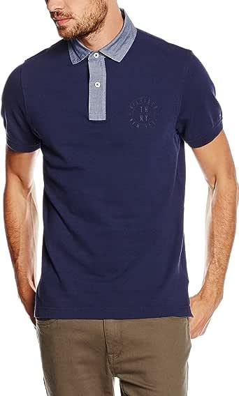 TOMMY HILFIGER 男式针织领 S / S SF POLO 衫