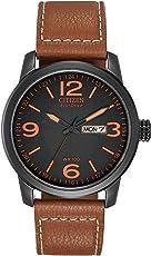 """Citizen 西铁城 男式的BM8475-26E""""光动能""""不锈钢合成皮表带的手表"""