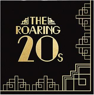 Big Dot of Happiness Roaring 20 年代金箔 - 2020 年毕业和选举派对用品 - 20 年代艺术装饰爵士派对鸡尾酒会饮料餐巾(16 张)