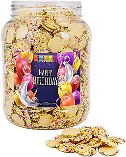 Mr Tubbys White Chocolate Jazzies - Happy Birthday Blue Label - Large Jar 1500g(Pack of 1)