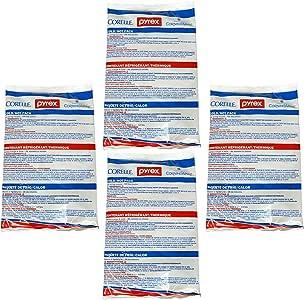 Pyrex 便携式大号热/冷袋,适合冷冻或微波炉 白色、蓝色、红色