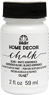 FolkArt 家居装饰粉笔家具和工艺颜料,多种颜色 White Adirondack 2 盎司 36300