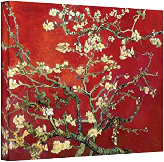 Art Walls Interpretation in Red Blossoming Almond Tree by Vincent Van Gogh Gallery Wrapped Canvas Art, 18 by 24-Inch