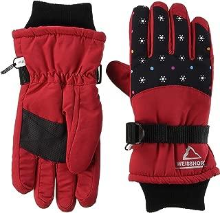 TAKIHIO 防水防风防水内衬 保暖手套 333560932 儿童 星红色 日本 7-8 (日本サイズ130 相当)