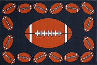 Fun Rugs Football Time Accent Rug, 39-Inch by 58-Inch